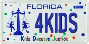 Justice for Kids plate