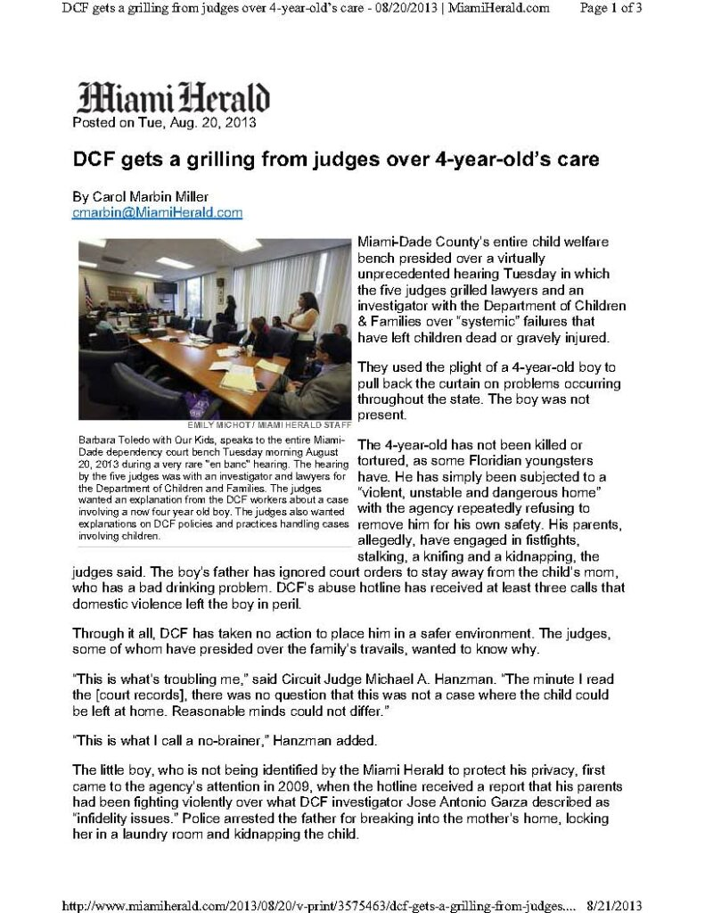 Article - DCF gets a grilling from judges over 4-year-old''''''''s care 8-21-13_Page_1